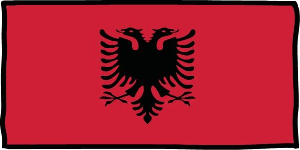 Albanie drapeau - Koala et boowa ...