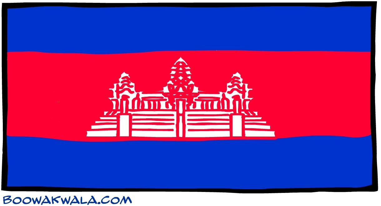 Cambodge drapeau - Koala et boowa ...