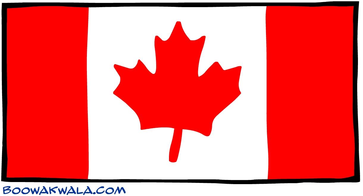 Canada drapeau - Koala et boowa ...