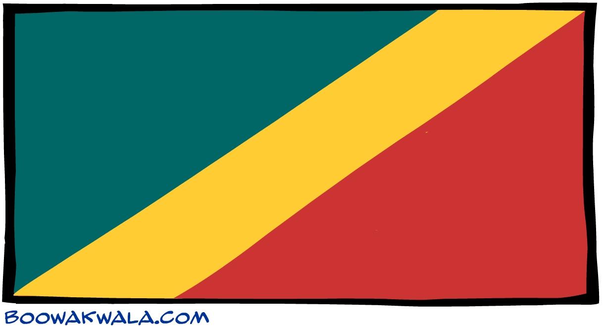 Congo drapeau - Koala et boowa ...