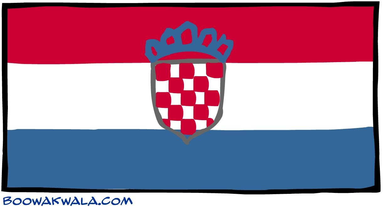 Croatie drapeau - Koala et boowa ...
