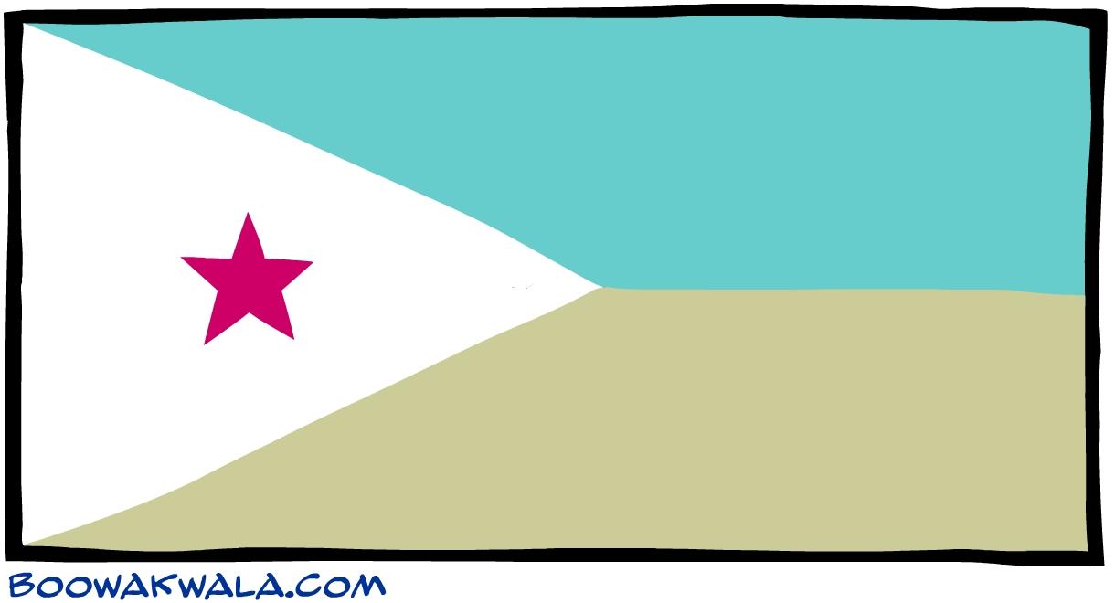 Djibouti drapeau - Koala et boowa ...