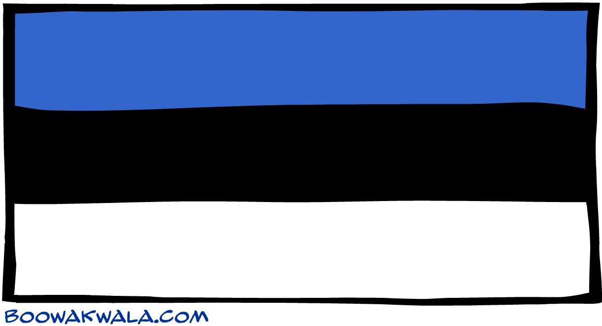 Estonie drapeau - Koala et boowa ...