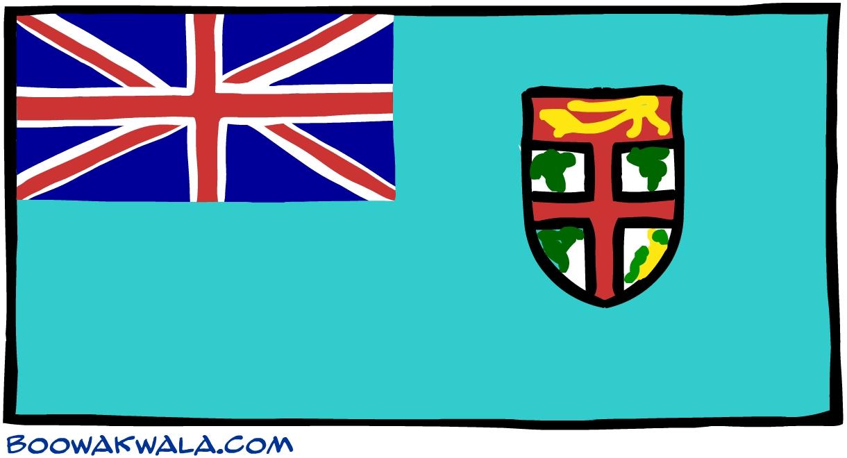 Fidji drapeau - Koala et boowa ...
