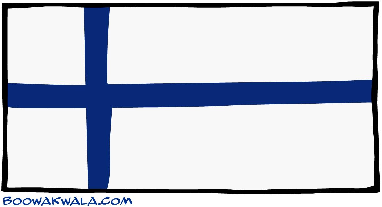 Finlande drapeau - Koala et boowa ...