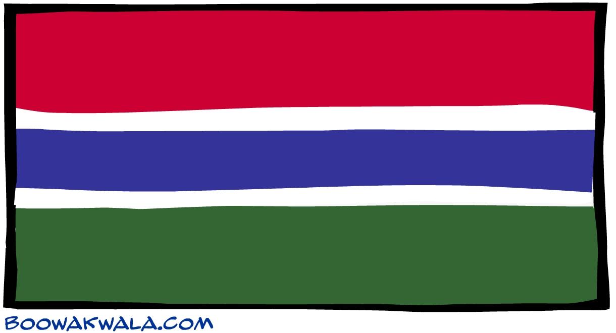 Gambie drapeau - Koala et boowa ...