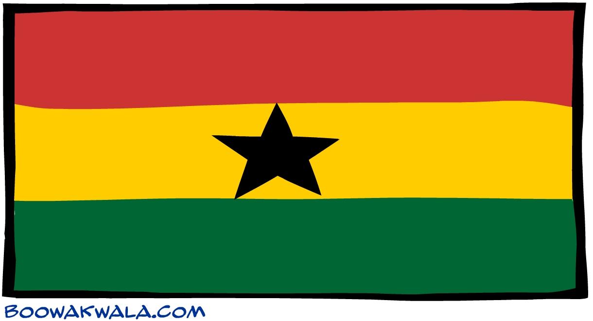 Ghana drapeau - Koala et boowa ...