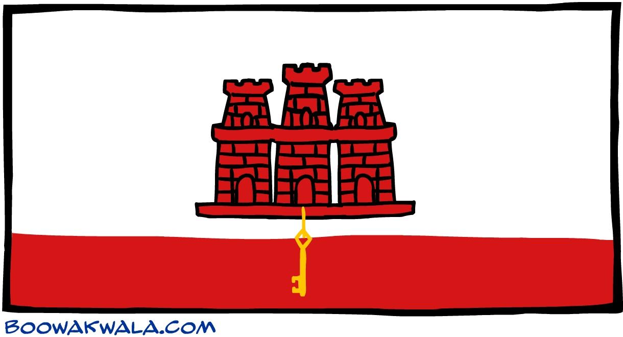 Gibraltar drapeau - Koala et boowa ...
