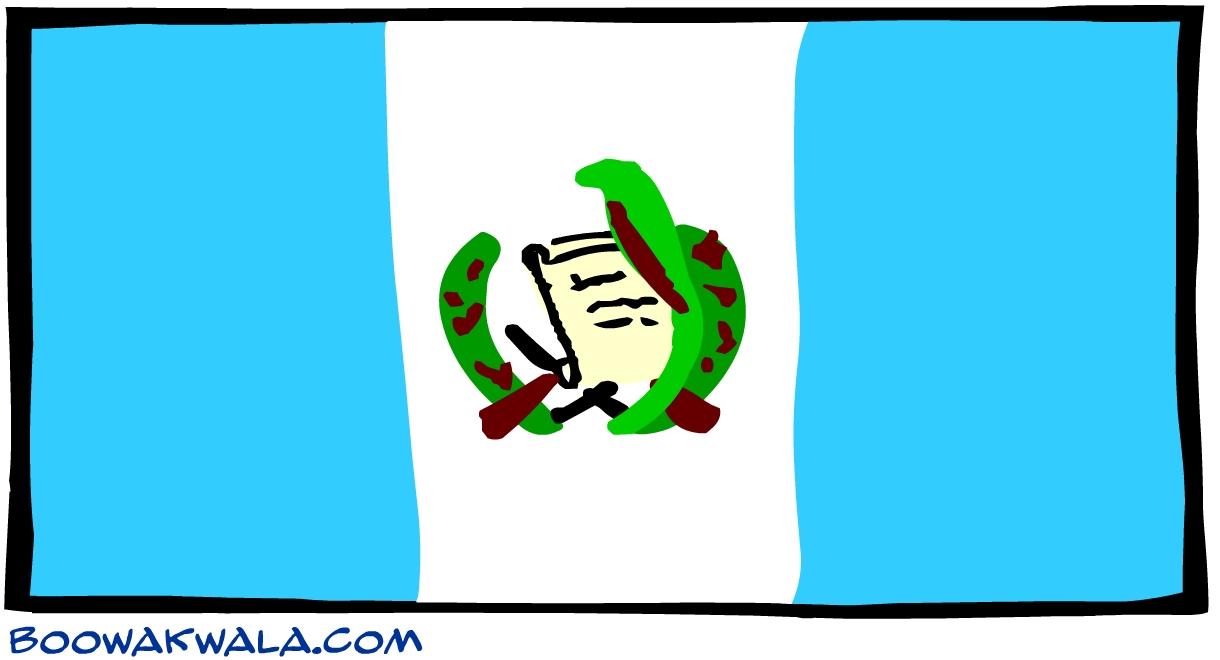 Guatemala drapeau - Koala et boowa ...