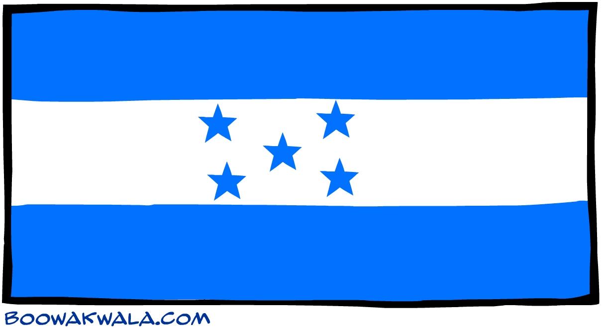 Honduras drapeau - Koala et boowa ...