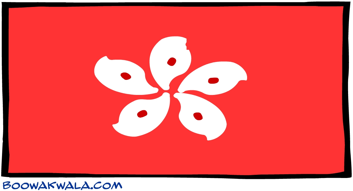 Hong kong drapeau - Koala et boowa ...
