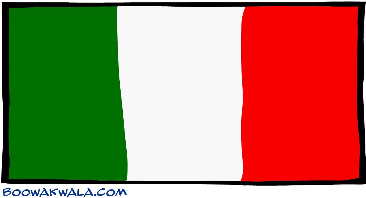 Italie drapeau - Koala et boowa ...