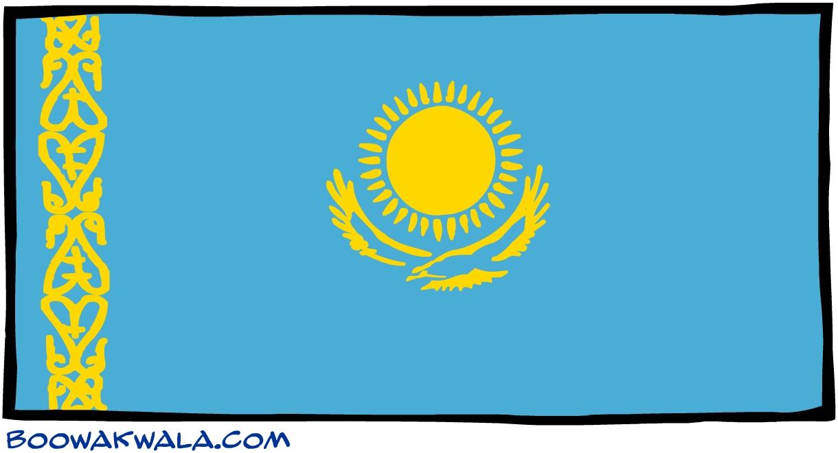 Kazakstan drapeau - Koala et boowa ...