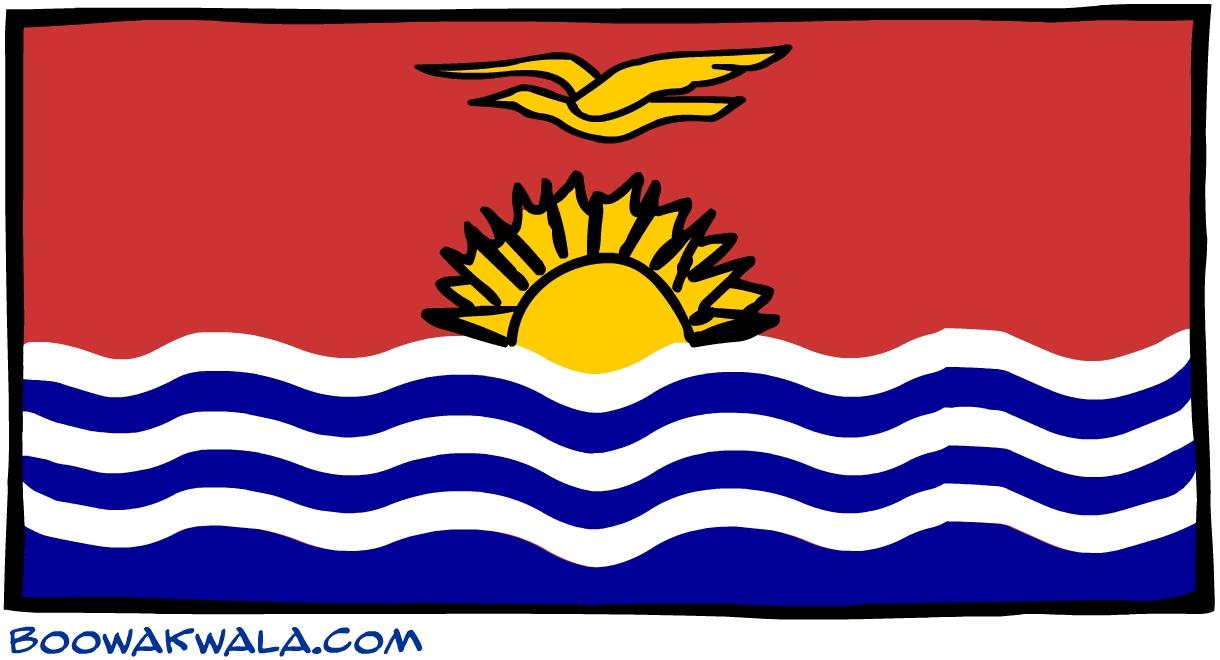 Kiribati drapeau - Koala et boowa ...