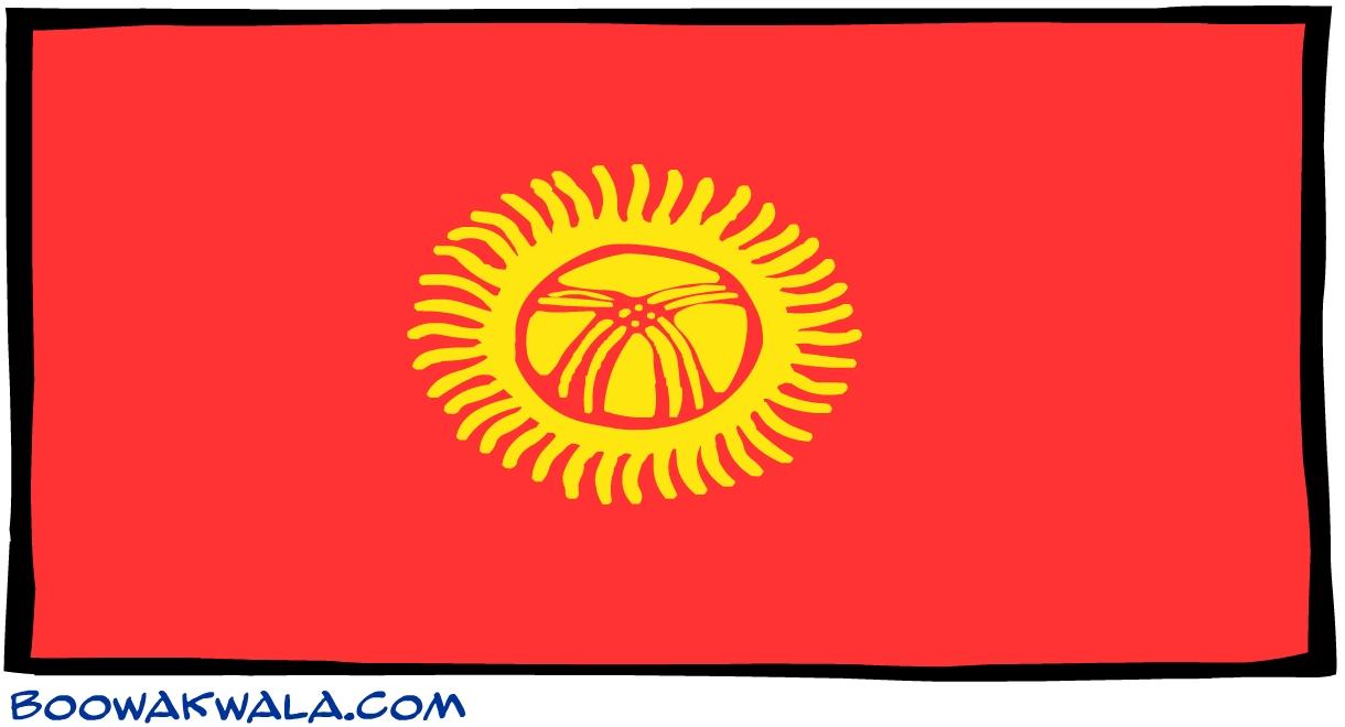 Kirghizistan drapeau - Koala et boowa ...