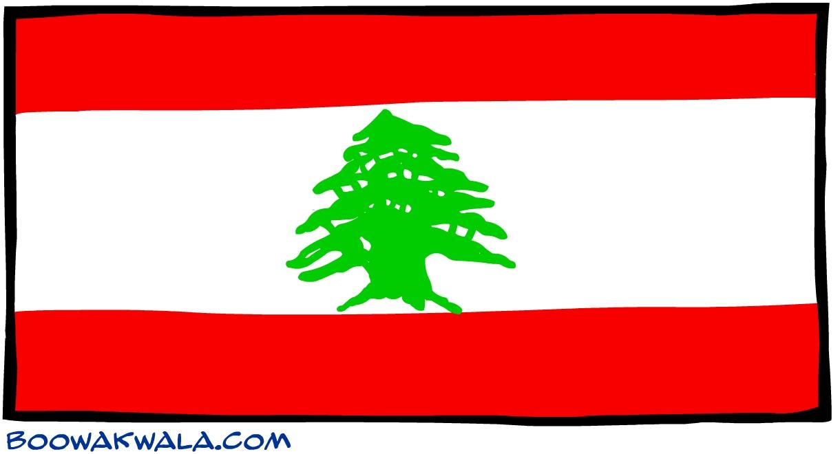 Liban drapeau - Koala et boowa ...