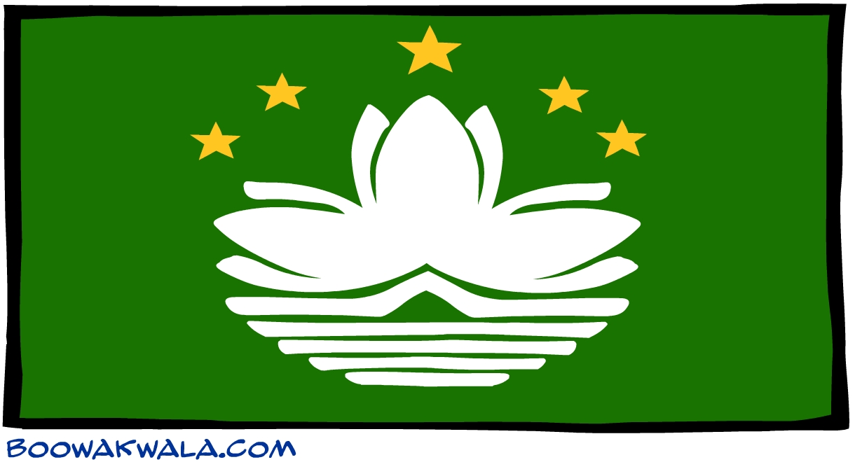 Macao drapeau - Koala et boowa ...