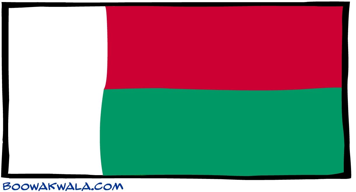 Madagascar drapeau - Koala et boowa ...