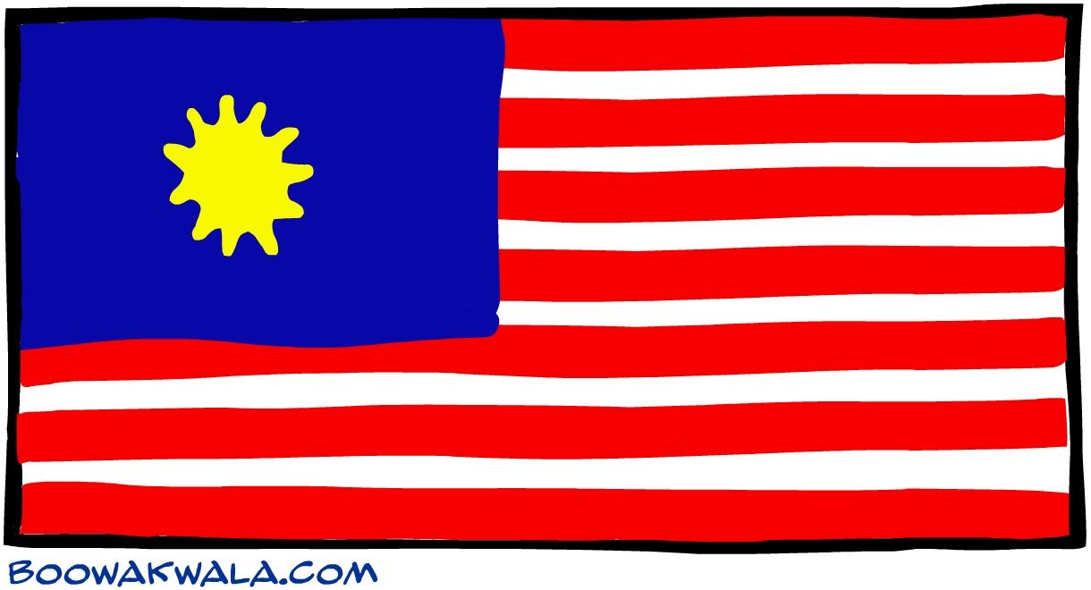 Malaisie drapeau - Koala et boowa ...
