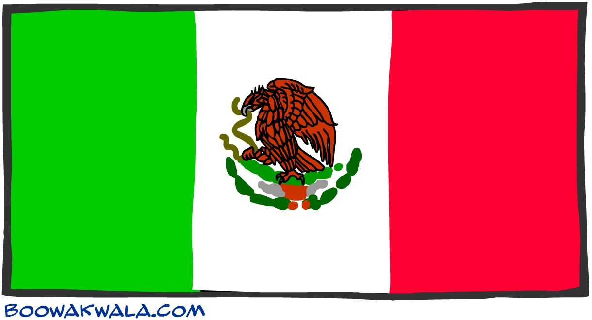 Mexique drapeau - Koala et boowa ...