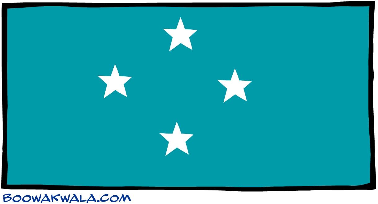 Micron sie drapeau - Koala et boowa ...