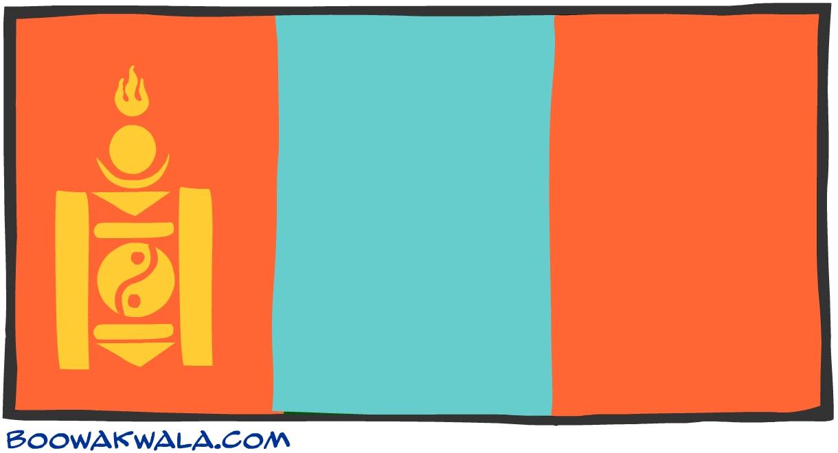 Mongolie drapeau - Koala et boowa ...