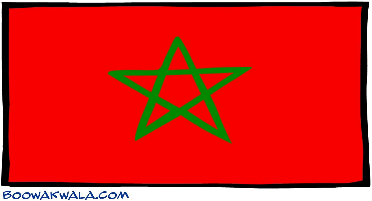 Maroc drapeau - Koala et boowa ...