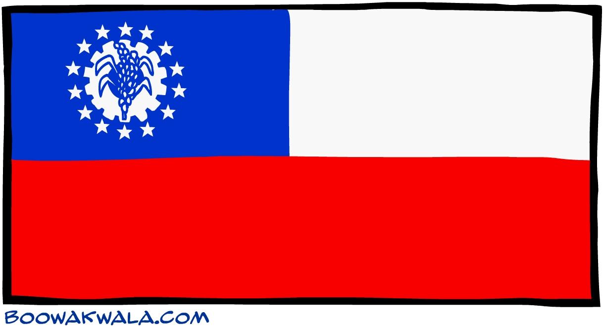 Myanmar drapeau - Koala et boowa ...