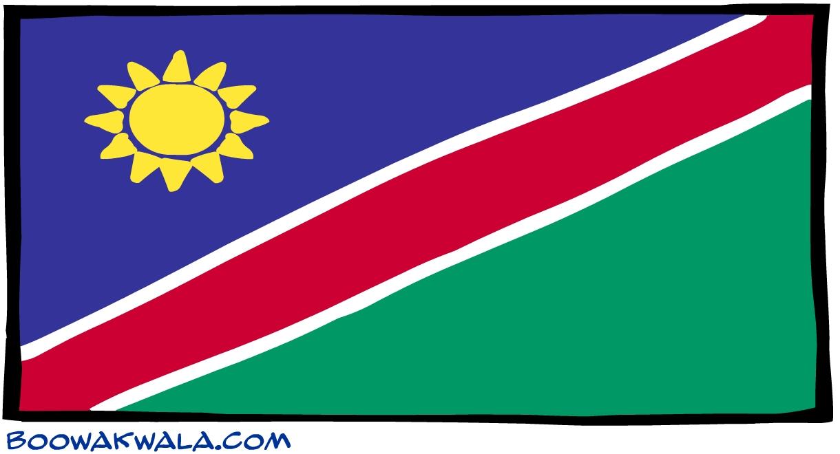 Namibie drapeau - Koala et boowa ...