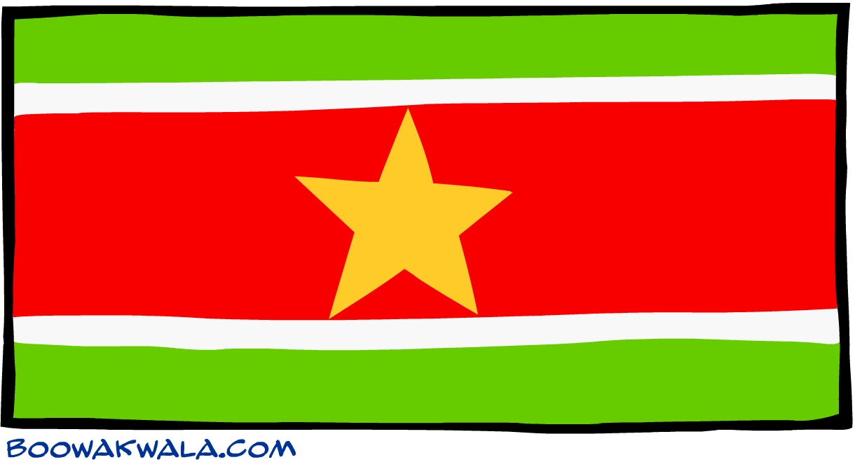 Suriname drapeau - Koala et boowa ...