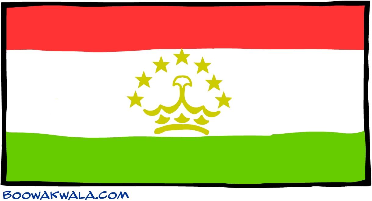 Tadjikistan drapeau - Koala et boowa ...
