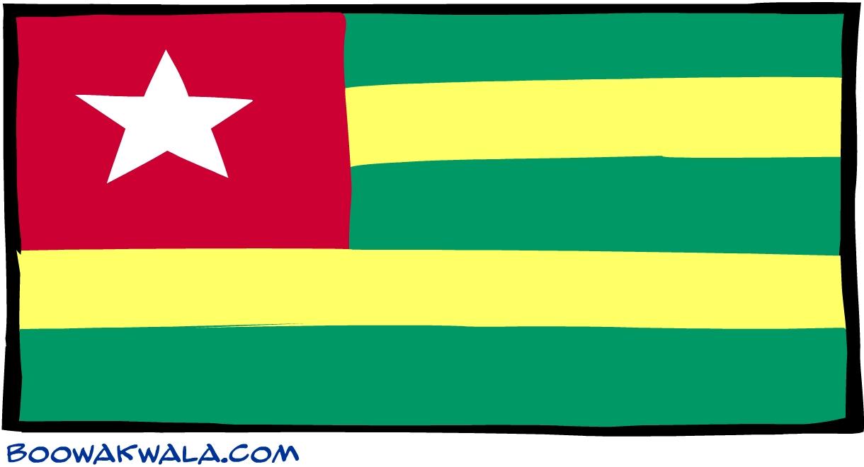 Togo drapeau - Koala et boowa ...