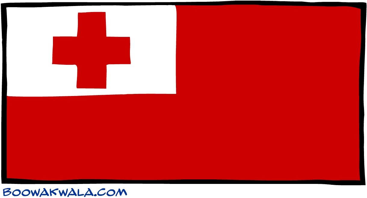 Tonga drapeau - Koala et boowa ...