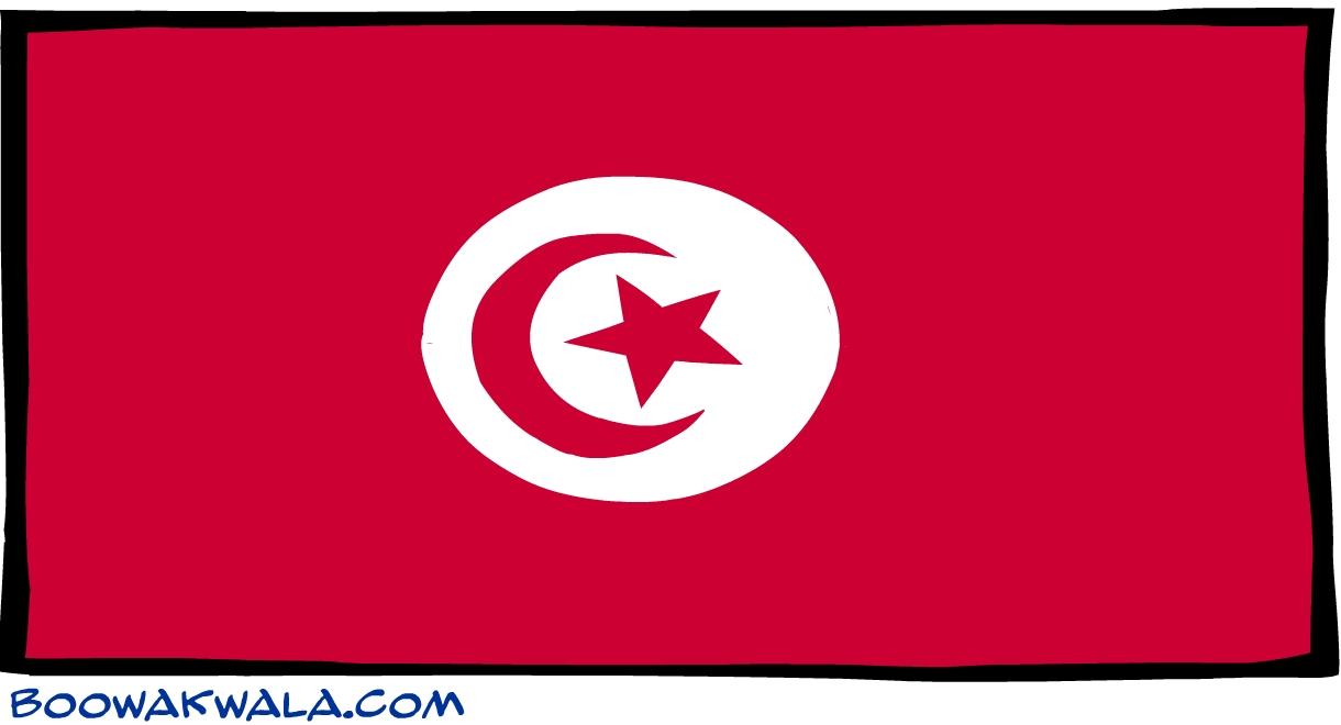 Tunisie drapeau - Koala et boowa ...