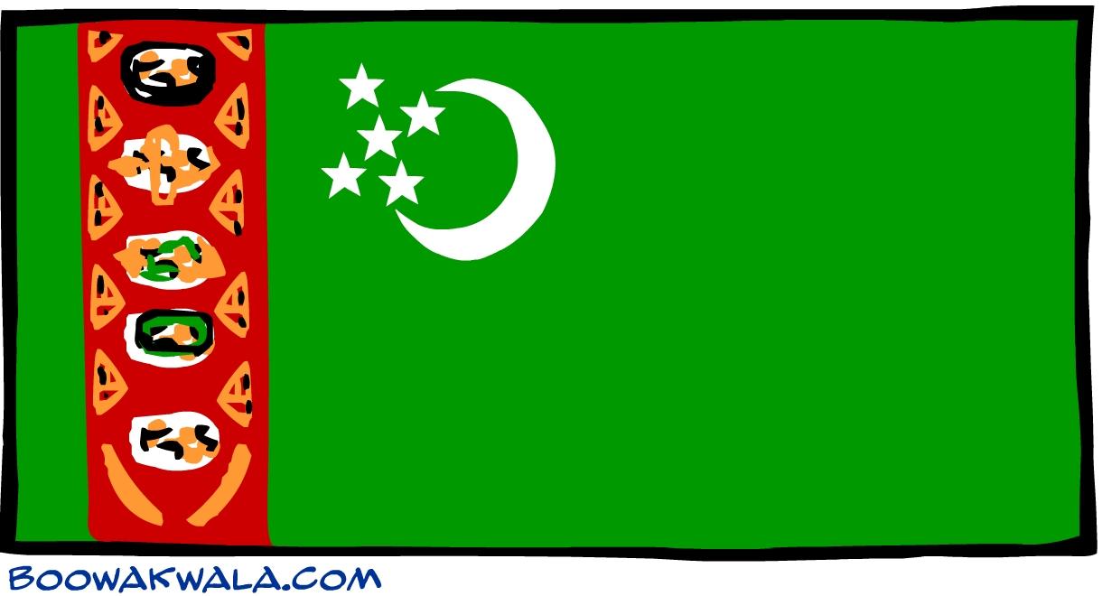 Turkm nistan drapeau - Koala et boowa ...