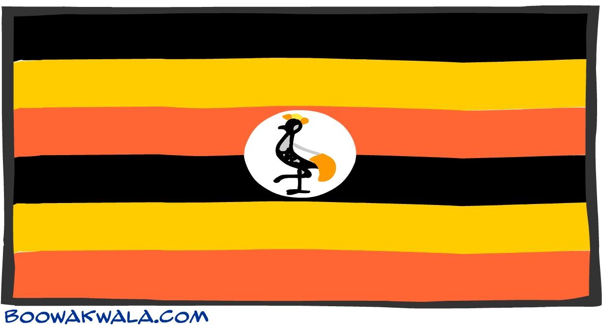 Ouganda drapeau - Koala et boowa ...
