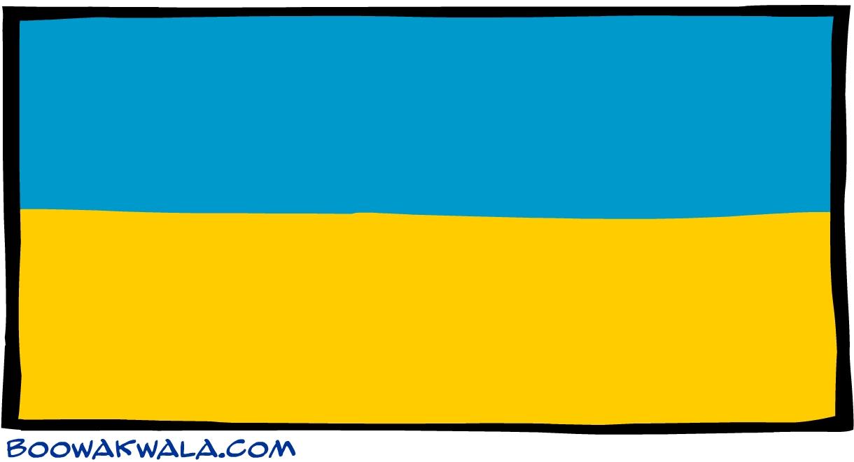 Ukraine drapeau - Koala et boowa ...