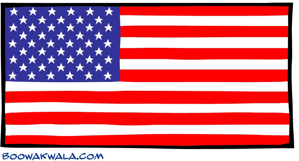 etats unis drapeau - Photo