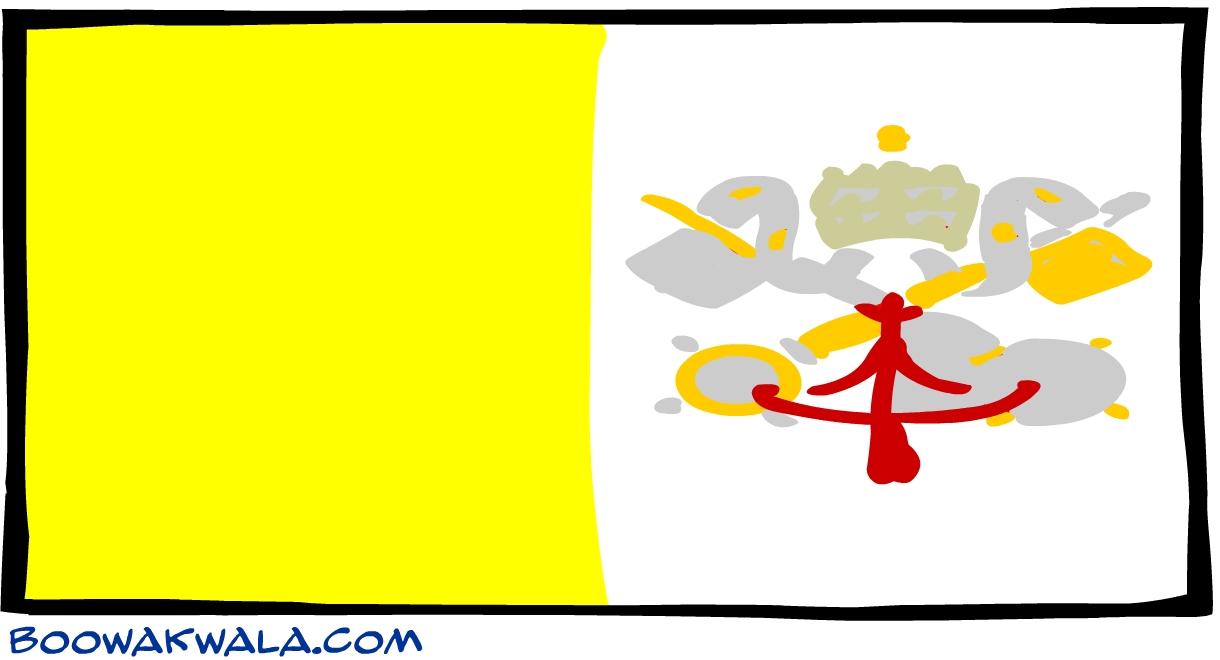 Vatican drapeau - Koala et boowa ...